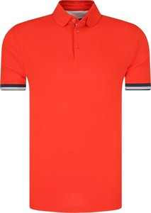 Czerwona koszulka polo Joop! Jeans z krótkim rękawem