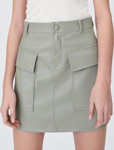 Spódnica Sinsay w rockowym stylu ze skóry ekologicznej mini