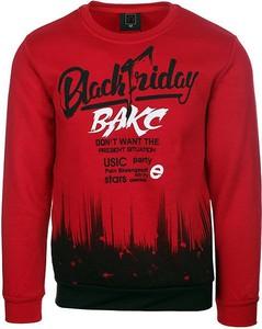 Czerwona bluza Neidio z bawełny
