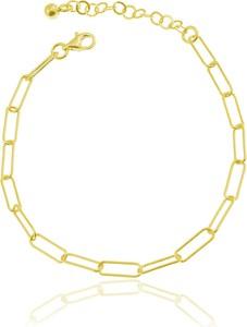 Lian Art Bransoletka Margot - duże oczka - 24k złocenie
