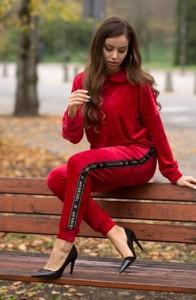 Czerwone spodnie MERRIBEL