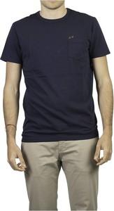 Niebieski t-shirt Sun 68 w stylu casual