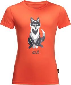 Pomarańczowa koszulka dziecięca Jack Wolfskin z dżerseju