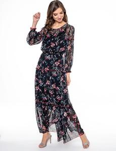 Sukienka POTIS & VERSO maxi z długim rękawem