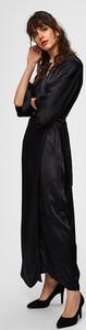 Sukienka Selected Femme maxi z długim rękawem