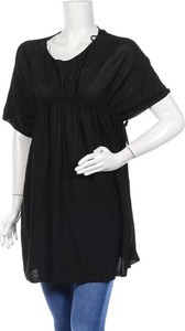 Czarna tunika Cos w stylu casual z krótkim rękawem