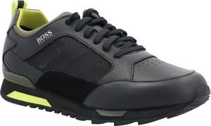Czarne buty sportowe Hugo Boss ze skóry