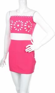 Różowa sukienka G.d.g bez rękawów mini