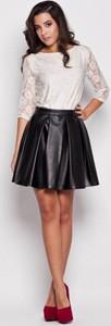 Czarna spódnica Katrus mini ze skóry ekologicznej