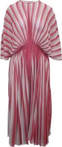 Sukienka Dior w stylu casual z dekoltem w kształcie litery v z długim rękawem
