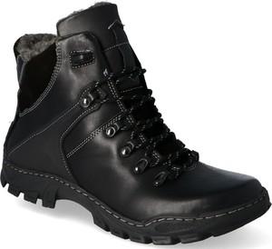 Czarne buty zimowe Kent