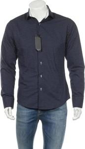 Niebieska koszula Sam`s w stylu casual z długim rękawem z klasycznym kołnierzykiem