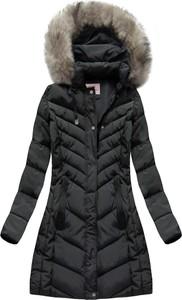 Czarna kurtka Mhm długa w stylu casual