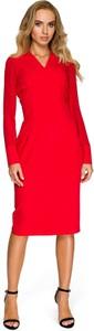 Sukienka Style midi z długim rękawem z tkaniny