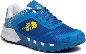 Niebieskie buty sportowe The North Face sznurowane