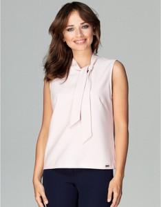 Różowa bluzka LENITIF bez rękawów