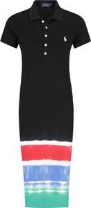 Sukienka POLO RALPH LAUREN z kołnierzykiem z krótkim rękawem midi