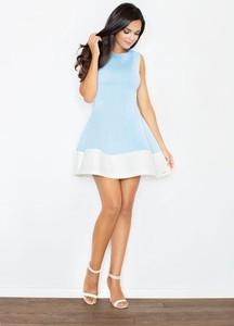 Sukienka Figl z okrągłym dekoltem mini