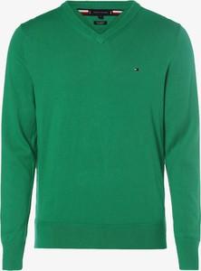 Zielony sweter Tommy Hilfiger z kaszmiru