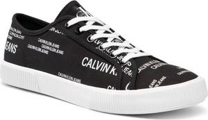 Calvin Klein Jeans Tenisówki Vulcanized Sneaker Laceup Aop Co YM0YM00077 Czarny