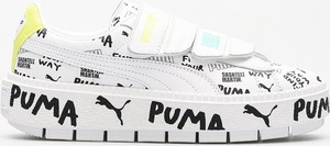Trampki Puma niskie ze skóry na rzepy