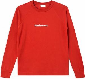 Czerwona bluzka Wood Wood w stylu casual