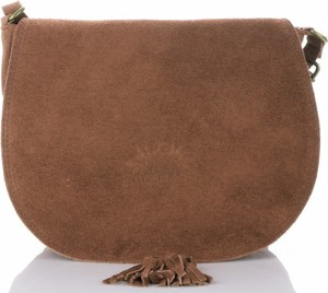 Brązowa torebka VITTORIA GOTTI mała przez ramię ze skóry