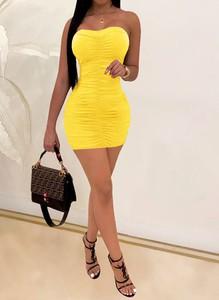Żółta sukienka Arilook mini