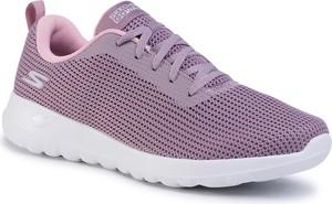 Fioletowe buty sportowe eobuwie.pl sznurowane z płaską podeszwą