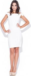Sukienka Katrus mini dopasowana bez rękawów