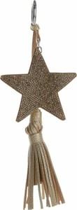 Bijoux Paris Dwustronny Brelok do torebki Stars z cyrkonami z grubym frędzlem Srebrno Złoty (kolory) Dodatki do Torebek