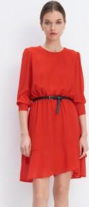 Sukienka Mohito mini z długim rękawem trapezowa
