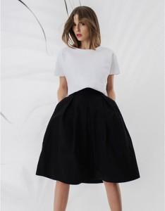 Czarna spódnica Klaudyna Cerklewicz z tkaniny midi