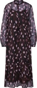 Fioletowa sukienka Y.A.S midi z długim rękawem oversize