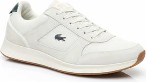 Buty sportowe Lacoste sznurowane z tkaniny w sportowym stylu