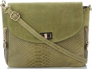 Zielona torebka VITTORIA GOTTI na ramię ze skóry