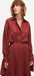 Fioletowa koszula Reserved z żakardu