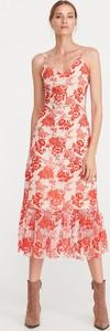 Różowa sukienka Reserved z dekoltem w kształcie litery v