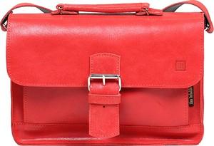 Czerwona torebka Slontorbalski średnia w stylu casual matowa
