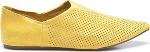Żółte półbuty Answear z płaską podeszwą