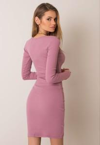 Sukienka Promese dopasowana w stylu casual z bawełny
