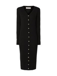 Sukienka EDITED z długim rękawem z dekoltem w kształcie litery v midi