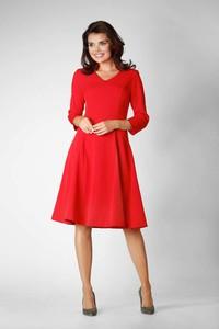 Czerwona sukienka Nommo midi