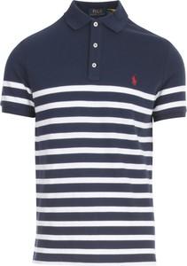 Niebieska koszulka polo POLO RALPH LAUREN z krótkim rękawem w stylu casual