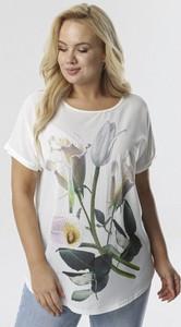Bluzka born2be z krótkim rękawem z okrągłym dekoltem w młodzieżowym stylu