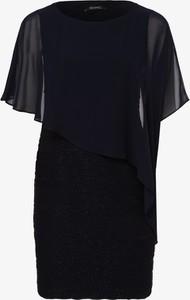 Czarna sukienka Swing mini prosta z okrągłym dekoltem