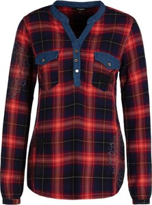 Bluzka Desigual z długim rękawem w stylu casual