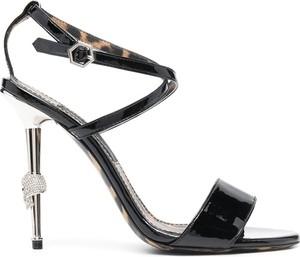 Czarne sandały Philipp Plein z klamrami