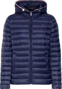 Niebieska kurtka Tommy Hilfiger z tkaniny krótka w stylu casual