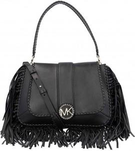 Czarna torebka Michael Kors w stylu boho średnia z frędzlami